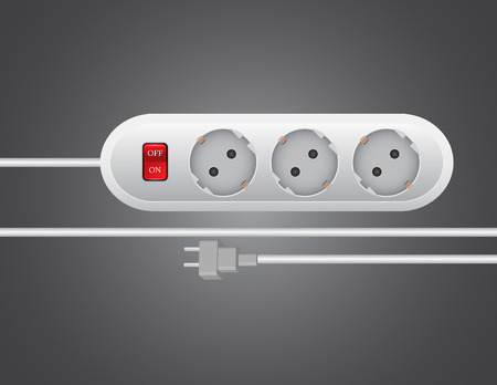 mains: electric plug sockets vector illustrations Illustration