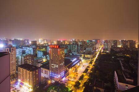 chengdu: Aerial view of Chengdu Editorial