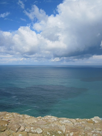 roca: Portugal. cape Roca. Atlantic ocean. Stock Photo