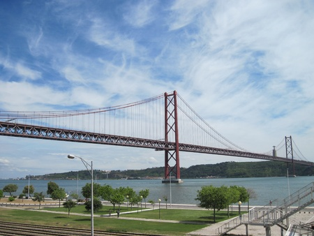 25th april bridge in lisbon, portugal.