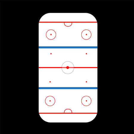 Ice Hockey Rink Vector for sports concepts