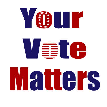 Your Vote Matters 2020 for United States of America (USA) presidential primary election in November for democratic or republican candidates. 向量圖像