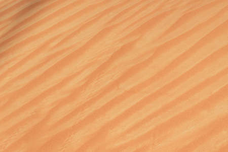 Close up of the sand designs in the beautiful sunshine in the United Arab Emirates.