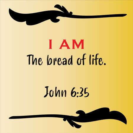 Jesus' I AM the way, truth and life vector statements on gradient yellow in gospel of John in the Bible's new testament for scripture encouragement. Vecteurs