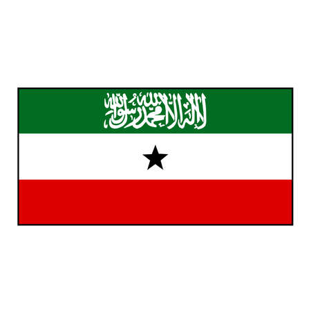 Somaliland Territory Rectangle Vector Flag, a self governing part of the Horn of Africa country Somalia.
