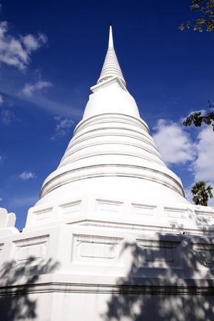 ayuttaya: White pagoda in the temple of Ayuttaya Thailand.