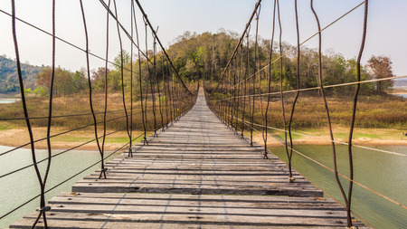 ambiguity: suspension bridge made of wood and sling