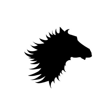Horse Head  Silhouette of a horses head