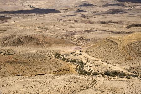 Landscape of the large crater Ha-Makhtesh Ha-Gadol in the Negev desert
