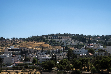 Buildings and houses on the Mount of Olives (Jerusalem, Israel)