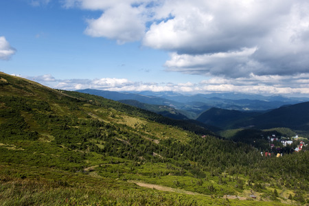 Peaks and slopes of Carpathian mountains (Ukraine, Carpathians, Dragobrat)