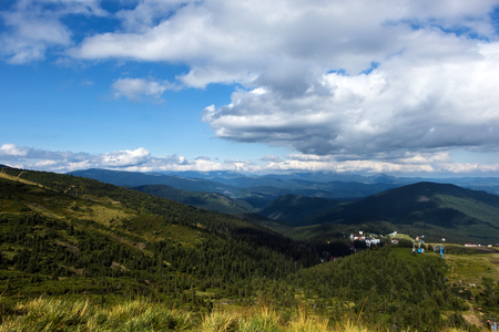 Peaks of the Carpathian Mountains (Ukraine, Carpathians, Dragobrat)