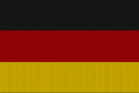 Flag of Germany on a vector knitted woolen texture. A knitted German flag creates a seamless pattern