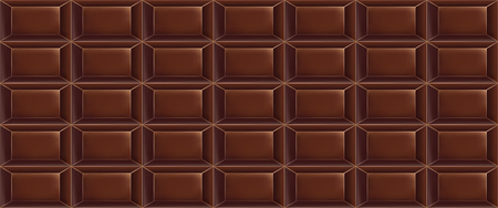 Ein Muster der süßen Schokolade des Vektors gemacht von den Schokoriegeln. Nahtloses Schokoladenmuster