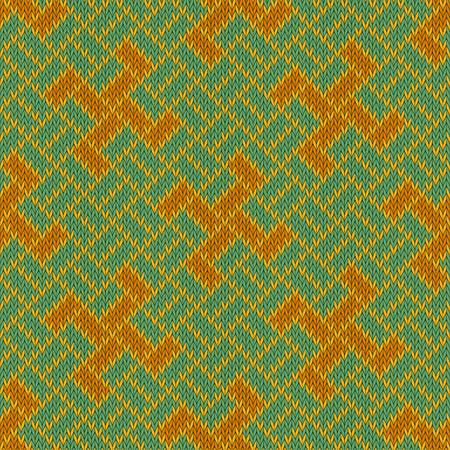 Golden Yarga. Seamless woolen knitted pattern