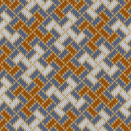 Yarga - the solar symbol of the Rus. Slavic seamless woolen knitted pattern Illustration