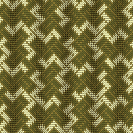 Ancient sacred symbol of the Balinese swastika. Seamless knitted wool pattern Ilustrace