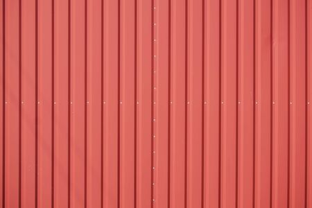 Surface of red profile metal sheeting. Steel Profile for Siding