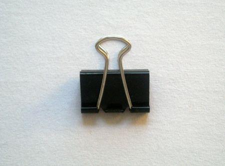 Binder Paper Clip Stock Photo