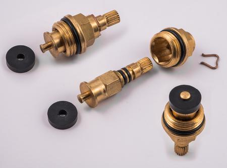 Preston, Lancashire  UK - 03 03 2018: Tap valve taken apart to show washer Editorial