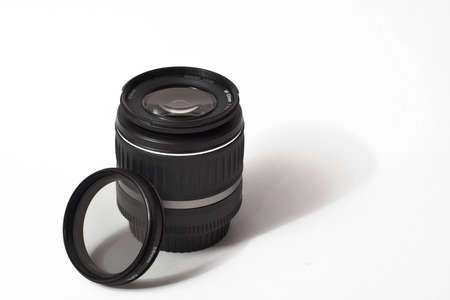 DSLR lens with filter photo