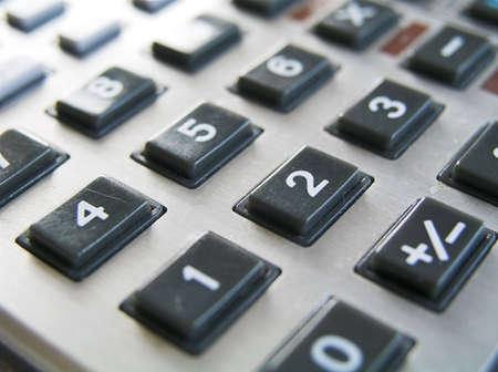 mortage: Calculator I Stock Photo