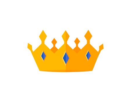 Vector gold crowns. Vector illustration