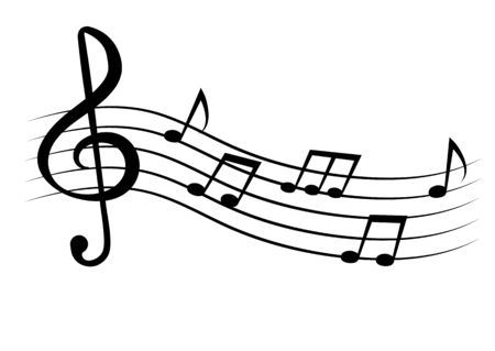 Music notes and symbols isolated. Vector illustration. Illustration