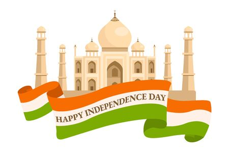 15th August India Happy Independence Day. vector festive illustration in India celebration. vector design elements of the national day. Ilustrace