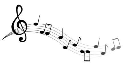 Music notes and symbols isolated. Vector illustration. 일러스트