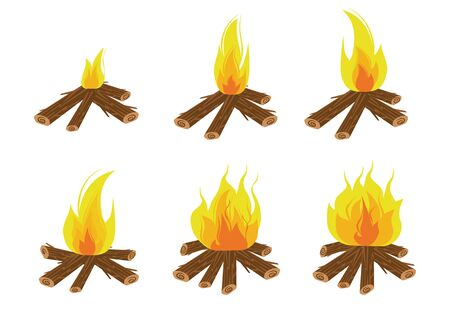 Fire effect. fire burning light effects. Vector illustration eps 10.