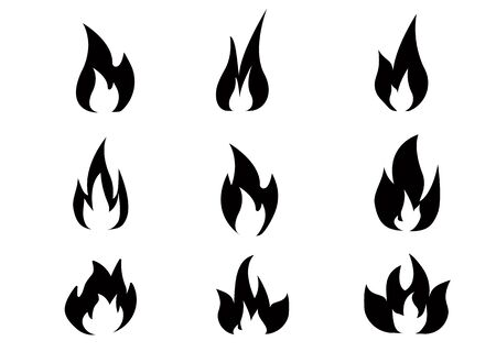 Fire effect. fire burning light effects. Vector illustration eps 10.