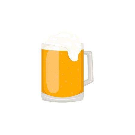 Beer glass, mug, bottle. Craft beer calligraphy design and minimal flat vector illustration of different types of beers. Oktoberfest . Zdjęcie Seryjne - 129262254