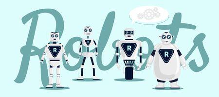 Robots Vector illustration