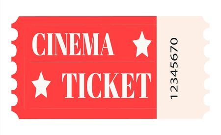 Cinema ticket. Realistic cinema entrance ticket.