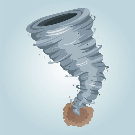 Tornado storm isolated. Realistic twister vector illustration. Tornado.