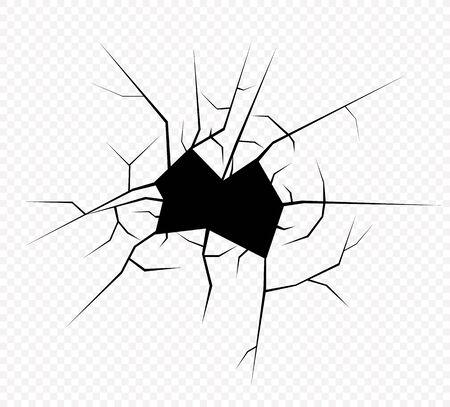 Cracks vector illustration isolated. Earth cracks. 스톡 콘텐츠 - 129262721