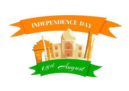 Happy independence day India of 15th August. Çizim