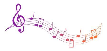 Music notes and symbols isolated. Vector illustration. Ilustração