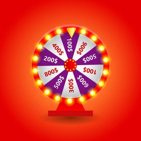 Colorful casino wheel.
