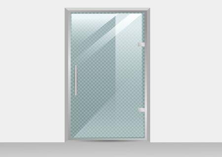 Glass door isolated on transparent background. Vector illustration Illusztráció
