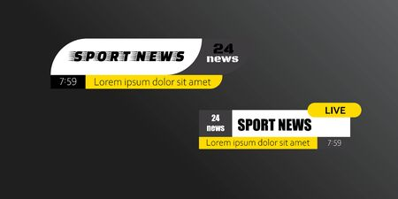 Tv news bars. Breaking news template banner. Vector illustration Фото со стока - 129262581