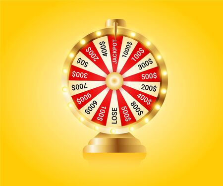 Fortune wheel, Realistic roulette design for lottery, casino games. Иллюстрация