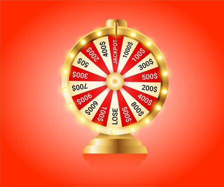 Fortune wheel, Realistic roulette design for lottery, casino games. 일러스트