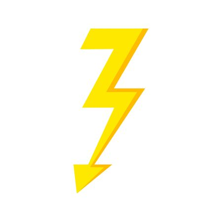 Thunder Bolt Lighting Flash Icon isolated on white background. Storm icon. Vector lightning