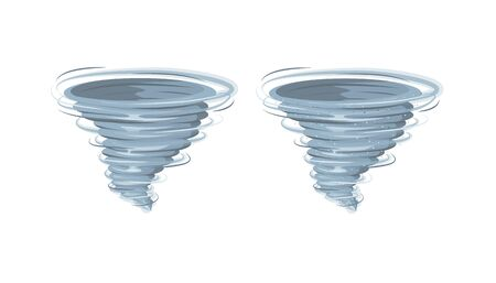 Tornado vector isolated on background. Transparent storm twister. Swirl tornado air effect. Иллюстрация