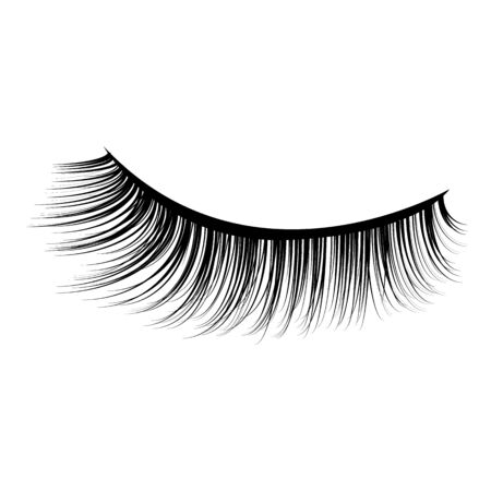 Icono de vector de pestañas de ojos. Vector de pestañas Ilustración de vector