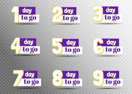 Sale countdown badges. Last minute offer banner, one day sales and 24 hour sale promo stickers. business limited special promotions. Isolated vector icons set