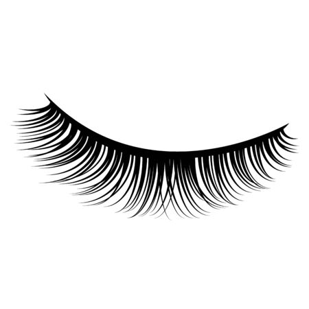 Icono de vector de pestañas de ojos. Vector de pestañas