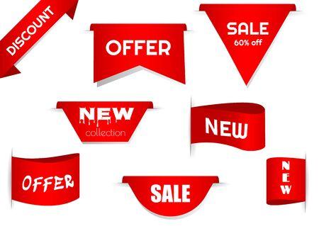 Conjunto de etiquetas. Vector insignias y etiquetas aisladas. Edición limitada, mejor elección, oferta especial. Etiquetas vectoriales para diseño de banners y volantes.